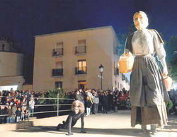 Imatge de la representació de la Llegenda, per l'Aula de Teatre de Martorell