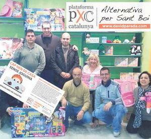 PxC-Sant Boi entrega juguetes a 203 familias