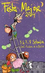 La reconeguda dibuixant Teresa Herrero, autora del cartell de la Festa Major'14 de Sant Andreu de la Barca