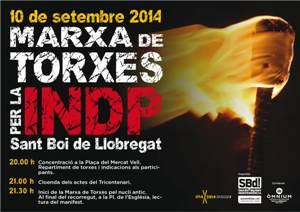 Sant Boi desfilarà amb torxes per la independència