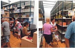 La Botiga Solidària lliura cistelles d'alimentació bàsica a més de 600 famílies cornellanenques cada mes