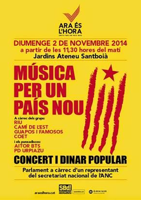 Sant Boi escalfa el 9N amb un concert reivindicatiu