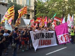 Manifestación en Martorell a favor de la viabilidad de la planta de Inovyn-Solvay