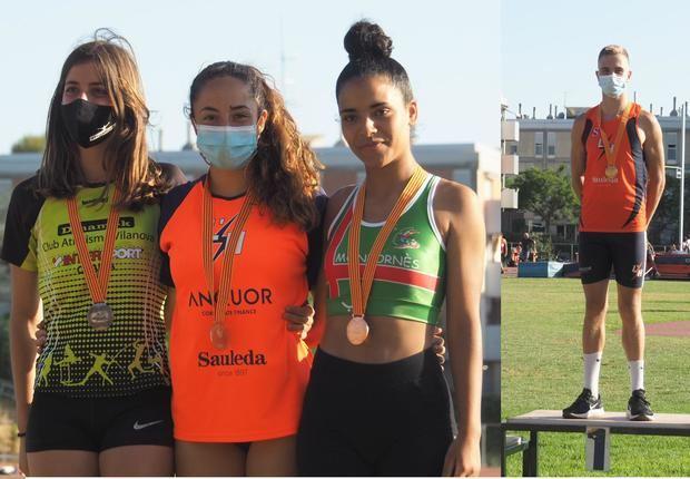 Fin de semana de triunfos y medallas para L'Hospitalet Atletisme en Barcelona y Málaga