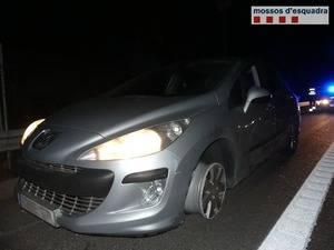 Detenido por conducir de forma temeraria, sin un neumático delantero, bebido y darse a la fuga en un control policial