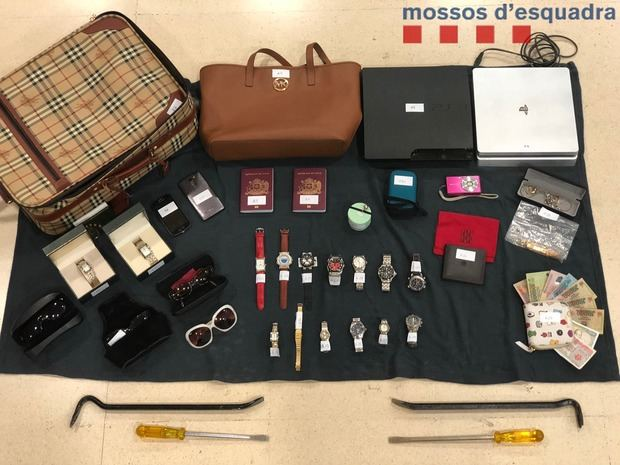 Detenidos cuatro ladrones por robar en domicilios de cuatro comarcas de la demarcación de Barcelona, entre ellas, el Baix Llobregat