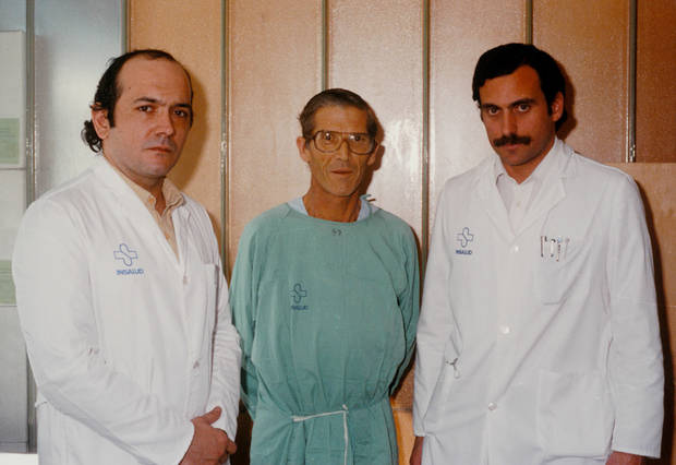 Imatge del primer trasplantament de fetge de l'Estat espanyol, realitzat a Bellvitge l'any 1984