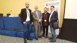 Andr�s Dur�n, responsable de Inform�tica y Redes; Carlos Astiz, secretario de la AEEPP; Imanol Crespo, director de El Llobregat; y Arsenio Escolar, director de '20 minutos' y presidente de la AEEPP