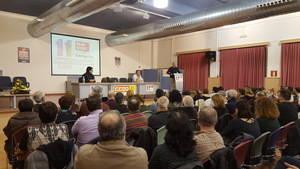 La seu de CCOO del Baix Llobregat s'omple per rebre el pratenc Javier Pacheco, únic candidat a la secretaria general del sindicat
