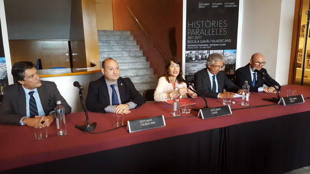 Gavà y Viladecans presentan una exposición conjunta de los cien años de la planta de Roca