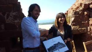 Gavà i Diputació de Barcelona fixen el punt de partida de la recuperació del Castell d'Eramprunyà