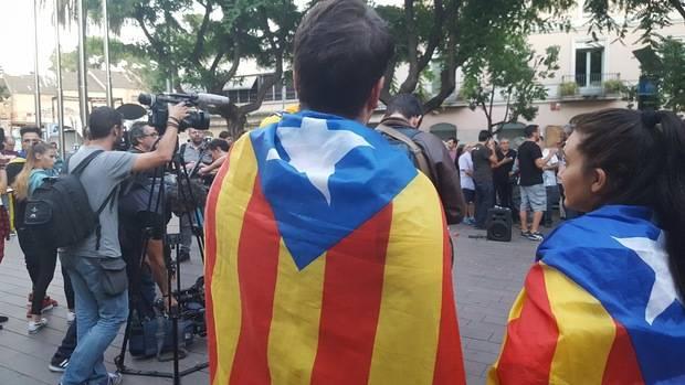 En la concentración hubo muy pocas banderas independentistas, a diferencia de otras manifestaciones de la ciudad