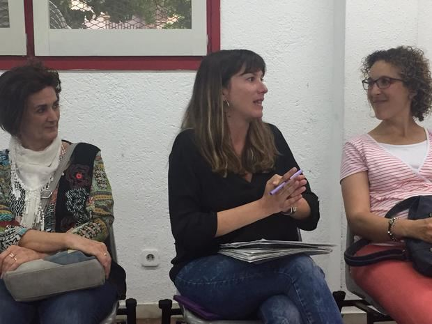 Lidia Muñoz, candidata de ICV a la alcaldía de Sant Feliu.