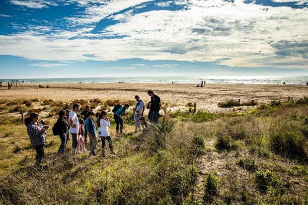 Jornada de protección de la playa de Castelldefels.