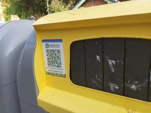 El código QR que tienen que escanear los vecinos cuando reciclen envases y así conseguir premios.