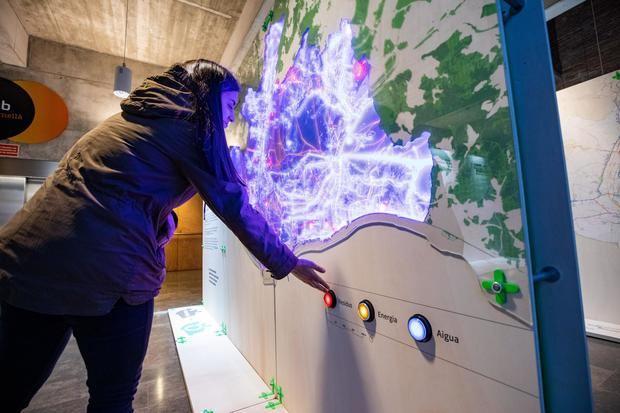 La muestra itinerante 'Metròpolis de ciutats', cuando fue expuesta en Cornellà