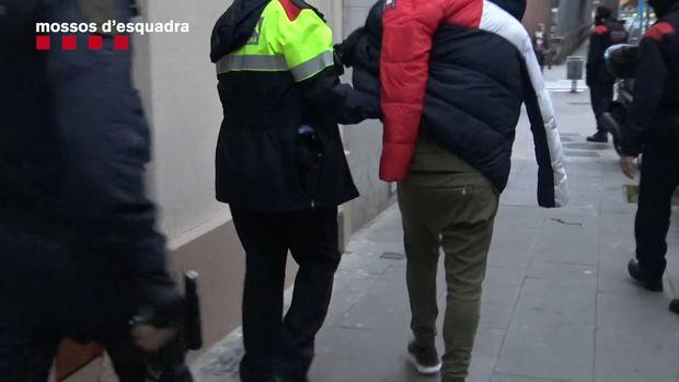 Momento de la detención del principal sospechoso.