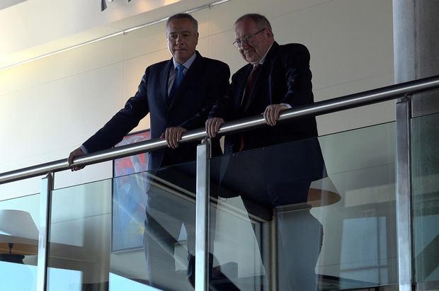 Navarro y Bonet durante la visita al Consorci de esta mañana.