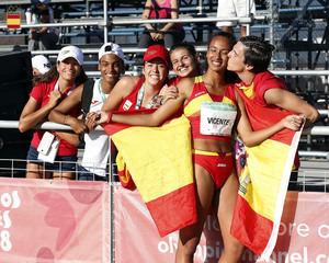 María Vicente se lleva la plata en triple salto en los Juegos de la Juventud
