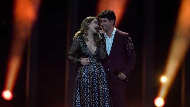 Alfred y Amaia durante la final de Eurovisión 2018.