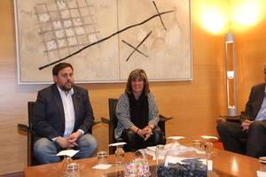 Junqueras transmet a L'Hospitalet el compromís de la Generalitat per desenvolupar la Granvia tot just un dia després que la federació local presentés una moció per la preservació de Cal Trabal