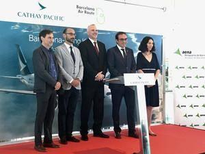 Cathay Pacific realiza el primer vuelo de la historia entre El Prat y Hong Kong