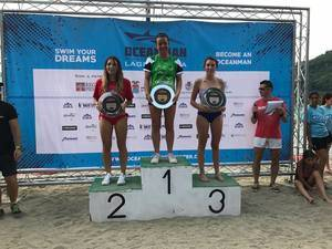 Alba Cerrillo, del CN Cornellà, logra la segunda posición en el Oceanman Lago d'Orga