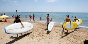 L'esport envaeix la millor platja del Baix