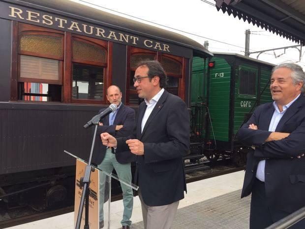 L'únic tren restaurant turístic de Catalunya ja roda entre Sant Boi i Montserrat