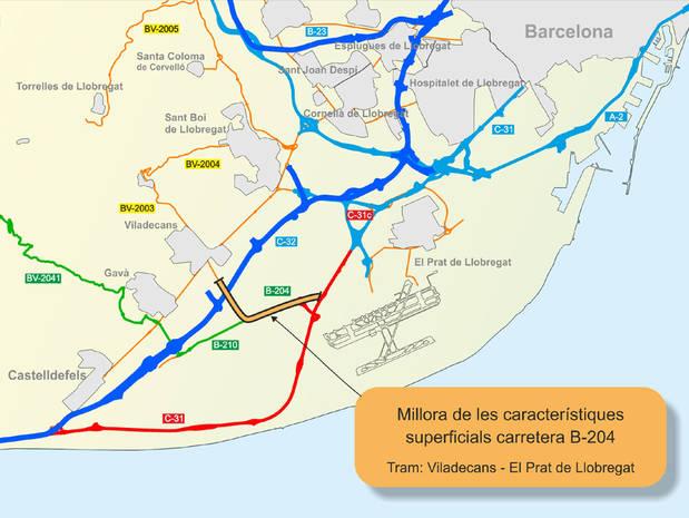 Territori i Sostenibilitat licita la construcció d'un carril bici a la B-204 de Viladecans