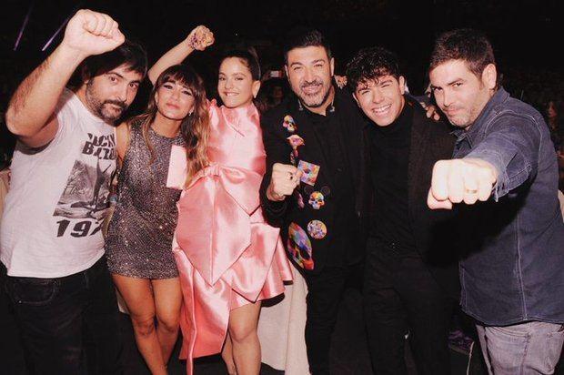 Los artistas de la comarca durante Los 40 Music Awards 2019