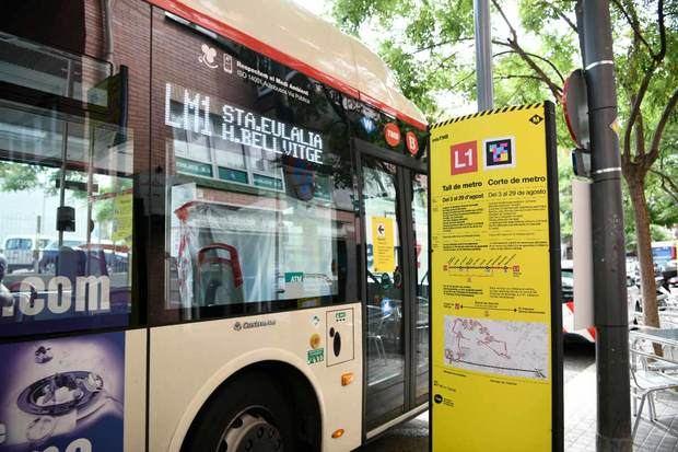TMB activa un transporte alternativo en el corte de la L1 de metro en L'Hospitalet