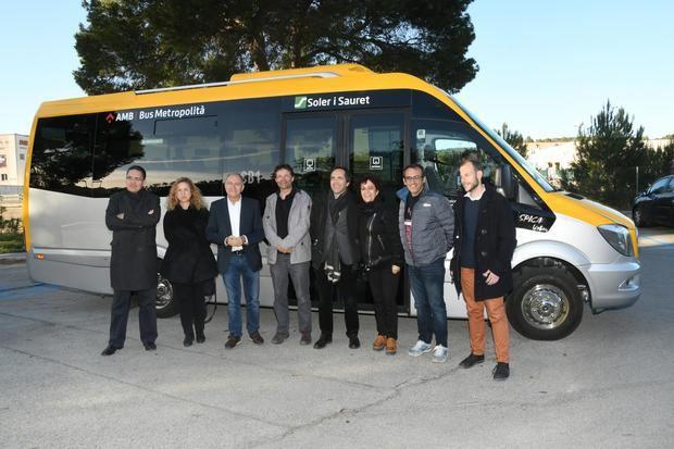 Este miércoles, durante la inauguración del nuevo autobús bajo demanda en Cervelló