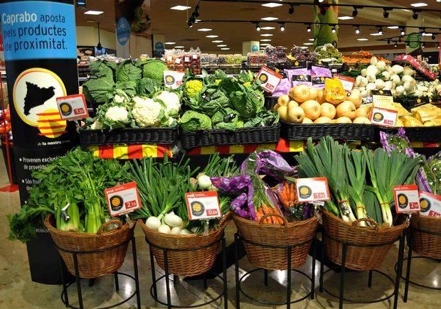 Las ventas de productos de proximidad en Caprabo crecen un 15%