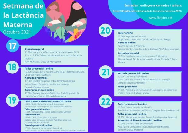 Vuelven las actividades de la Setmana de la Lactància Materna del 17 al 22 de octubre