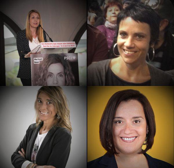 De izquierda a derecha y de arriba hacia abajo: Sònia Guerra (PSC), Alicia Ramons (En Comú), Mónica Parés (PP) y Montserrat Vilardosa (ERC).
