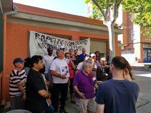 Encierro en l'Hospitalet contra el racismo y la discriminación de los inmigrantes