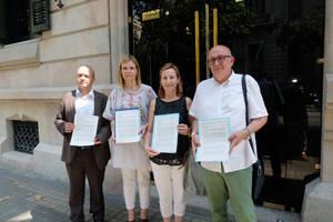 Lliurada a la Delegació del Govern una carta adreçada al ministre de Foment per reclamar la reobertura del vial d'accés a Sant Boi des de la C-245