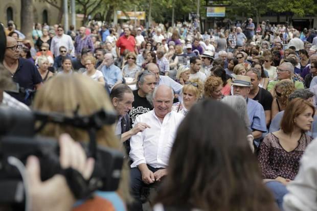 Rabell pasó ayer por Castelldefels, ciudad gobernada por ICV