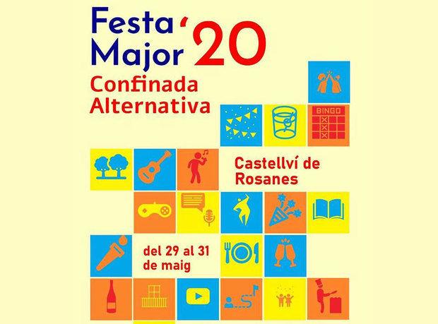 Castellví munta una Festa Major alternativa burlant el coronavirus des dels balcons i a la xarxa
