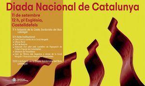 La celebración de la Diada Nacional de Cataluña regresa otro año más al municipio de Castelldefels