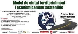 Invitació a la taula debat del Cicle d'infraestructures