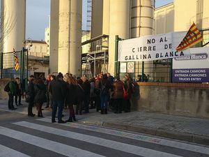Los exsecretarios de CCOO del Baix Llobregat dan su apoyo a la plantilla de Gallina Blanca