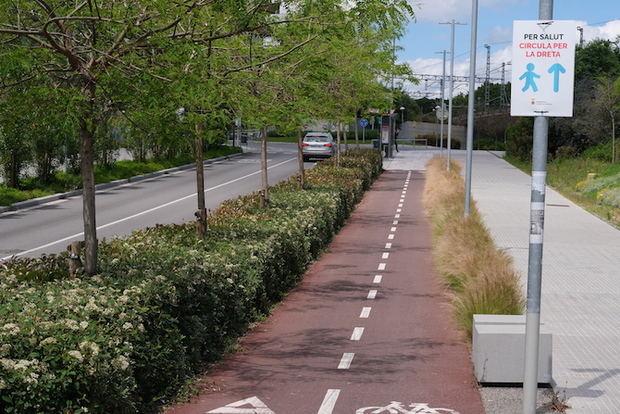 Cornellà s'esponja a la desescalada amb 3.100 metres quadrats per a vianants i 21 kilòmetres per a bicis