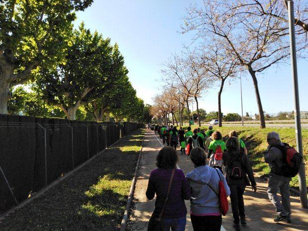Los participantes gozaron del buen tiempo que caracterizó a la jornada de ayer.