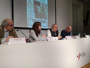 El acto tuvo lugar en la sala de prensa del Col·legi de Periodistes.