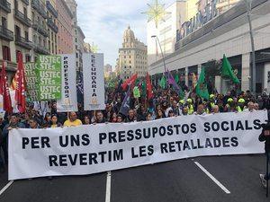 La Generalitat cifra en un 14,3% el seguimiento de la huelga de profesores en el Baix Llobregat