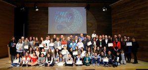 Premiados durante la 'Nit de l'Esport' de El Prat.