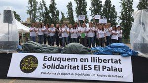 Manifestación en apoyo a los docentes.