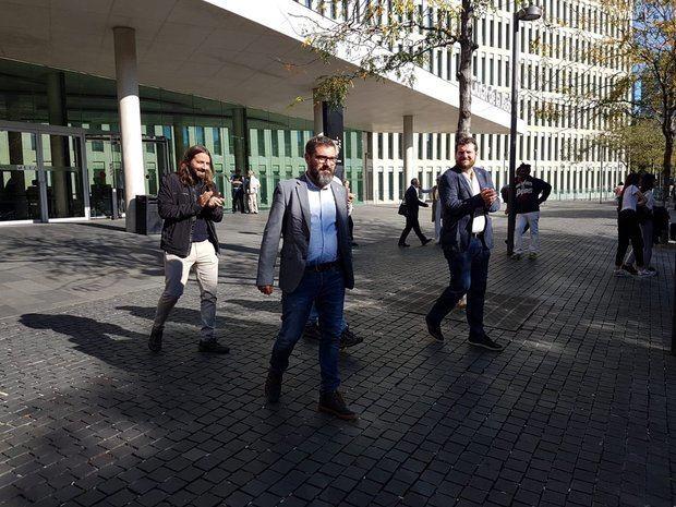 Miquel Solà, después de declarar por el 1-O este martes.